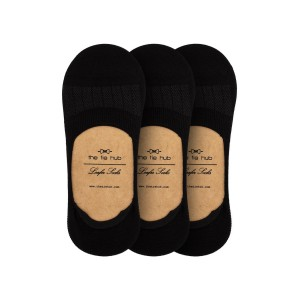 Pack of 3 Corty Solid Black Loafer Socks
