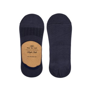 Corty Solid Blue Loafer Socks