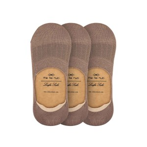 Pack of 3 Corty Solid Coffee Loafer Socks