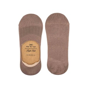 Corty Solid Coffee Loafer Socks