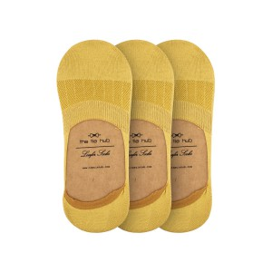 Corty Solid Chrome Loafer Socks Pack of 3