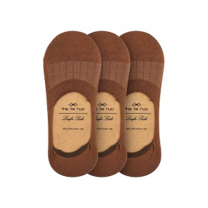 Pack of 3 Corty Solid Brown Loafer Socks
