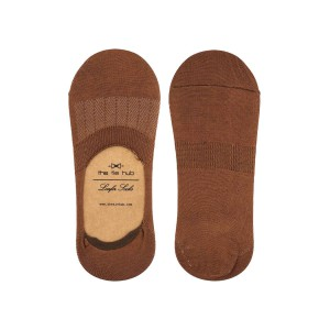 Corty Solid Brown Loafer Socks