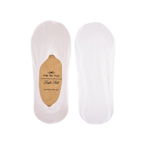 Breathable White Loafer Socks - Silicon lining