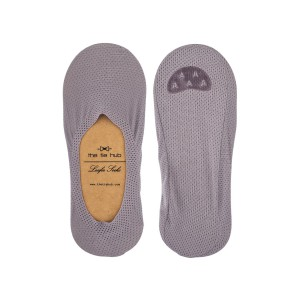 Breathable Grey Loafer Socks - Silicon lining
