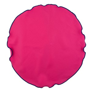 PINK WITH BLUE BORDER POCKET CIRCULAR