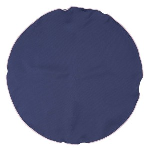 Freehand Solid Navy Blue Round Pocket Square For Men By The Tie Hub