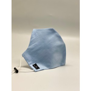 Sky Blue Solid 100% Premium Cotton Reusable Face Mask