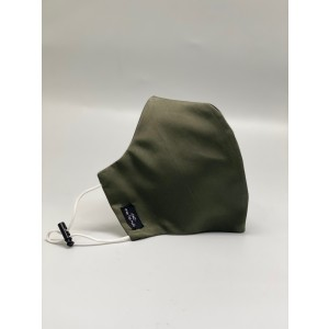 Army Green Solid 100% Premium Cotton Reusable Face Mask