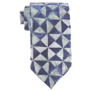 Pinwheel Purple And Grey Regular 100% Silk Necktie