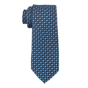 Martini Blue Ittalian Silk Necktie for Men