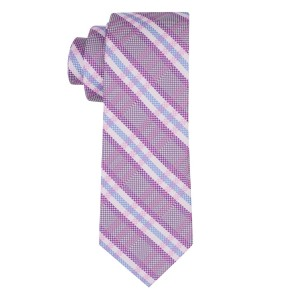 Ramble Purple Plaid Silk Necktie