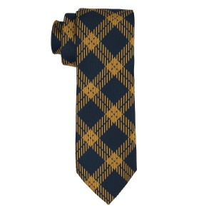 Anthem Plaid Blue And Yellow Silk Necktie