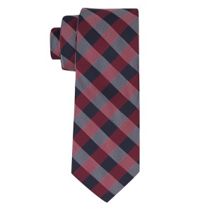 Rangel Blue And Pink Silk Plaid Necktie
