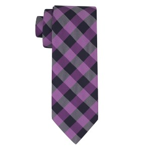 Rangel Blue And Purple Silk Plaid Necktie