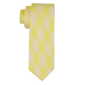 Budding Plaid Yellow Silk Necktie