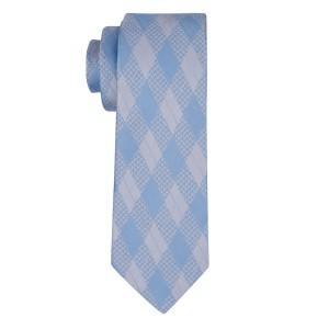 Budding Plaid Blue Silk Necktie