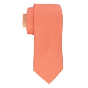 Pink Solid Necktie with Different Tail