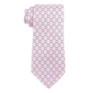 Counter Circal Pink 100% Silk Necktie