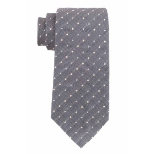 Grey with White Polka 100% Silk Necktie
