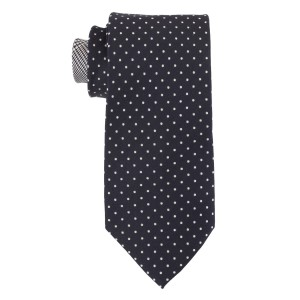 Primary Dots Black 100% Silk Necktie