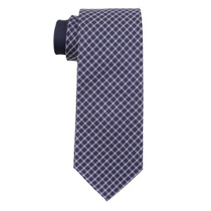 Commix Checks Blue and Purple 100% Silk Necktie