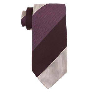 Dual Texture Purple and Wine 100% Silk Necktie