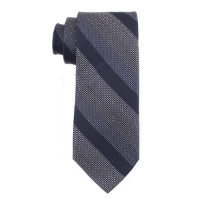 Laser Stripe Blue and Grey 100% Silk Necktie
