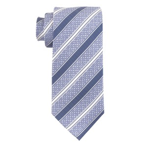 Vocal Stripe Blue 100% Silk Necktie