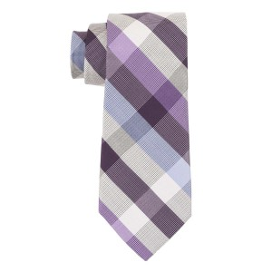 Trellis Purple and Blue 100% Silk Necktie