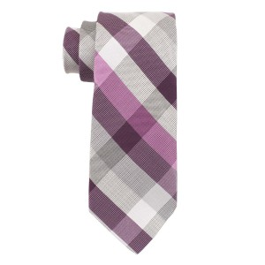 Trellis Pink and Purple 100% Silk Necktie