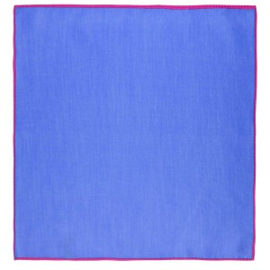 Weldner Solid Blue with Purple border Pocket square