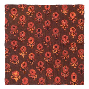 Floral Mark Maroon 100% Pashmina Pocket Square