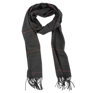Lincoln Square Plaid Grey Scarve By The Tie Hub