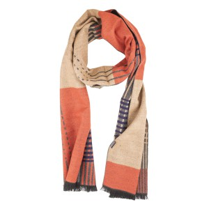 Ambit Grey and Orange Reversible Scarf by The Tie Hub
