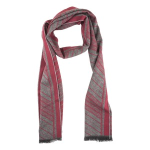 Licas Grey and Maroon Scarf by The Tie Hub