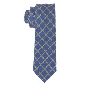 Blue Plaid Silk Necktie