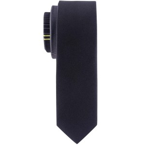 Studded Stripe  Black and Green Microfiber Necktie
