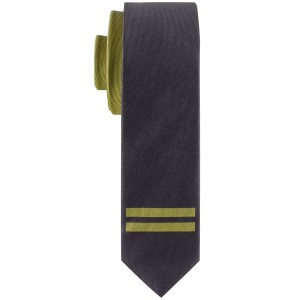 Mighty Stripe Green and Grey Handmade Microfiber Necktie