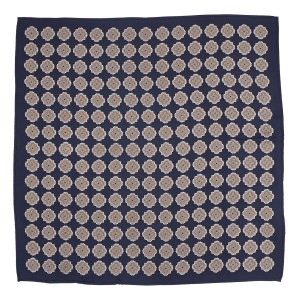 Caliber Camo Navy Blue 100% Silk Pocket Square