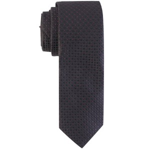 Medallion Black Dotted Microfiber Neck Tie by The Tie Hub
