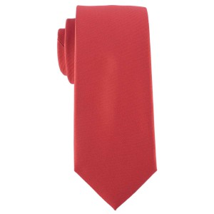 Striker Solid Red Microfiber Necktie