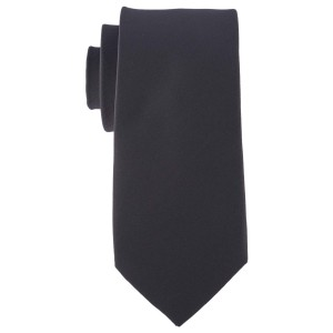 Striker Solid Black Microfiber Necktie