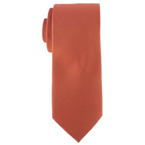 Striker Solid Orange Microfiber Necktie