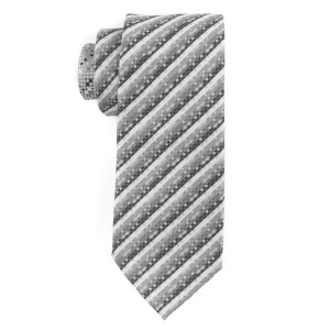 Dotted Peace Grey Silk Necktie