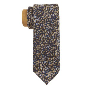 Flower Fields Yellow and Blue Silk Necktie