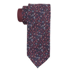 Flower Fields Red and Blue Silk Necktie
