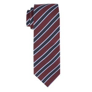 Maroon with Blue Stripe Microfiber Necktie