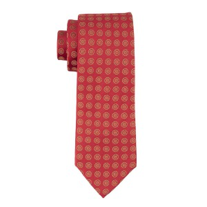Red With Golden Floral 100% Microfiber Necktie