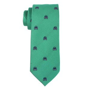 Green with Blue Car Microfiber Necktie